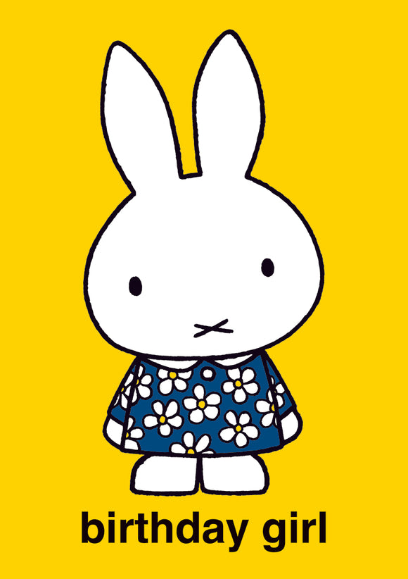 Birthday Girl Miffy Birthday Card