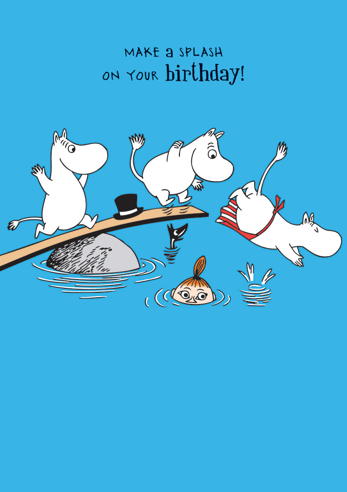 Make a Splash Moomins Birthday Card