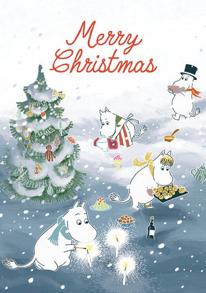 Merry Christmas Moomins Christmas Card