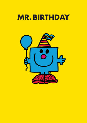 Mr Birthday Mr Men / Little Miss Birthday Greeting Card