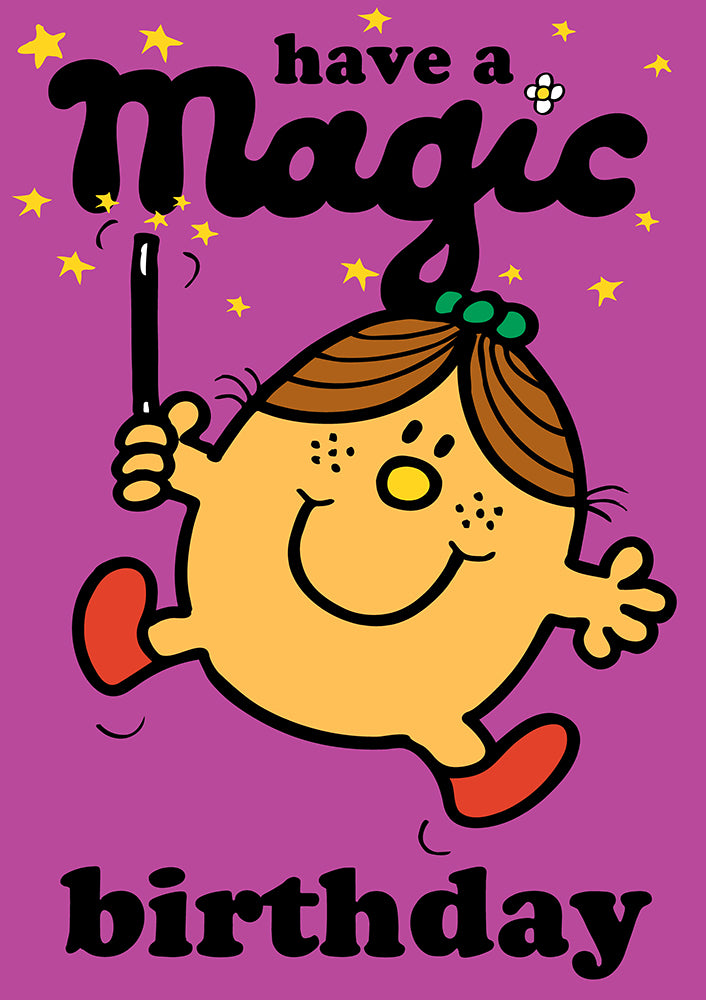 Have A Magic Birthday Mr Men / Little Miss Birthday Greeting Card