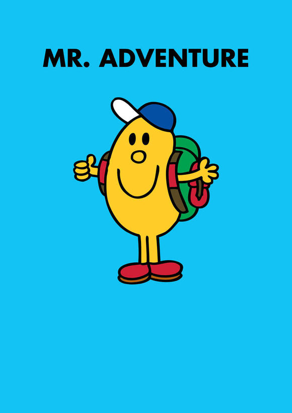 Mr Adventure Mr Men / Little Miss Birthday / Good Luck Greeting Card