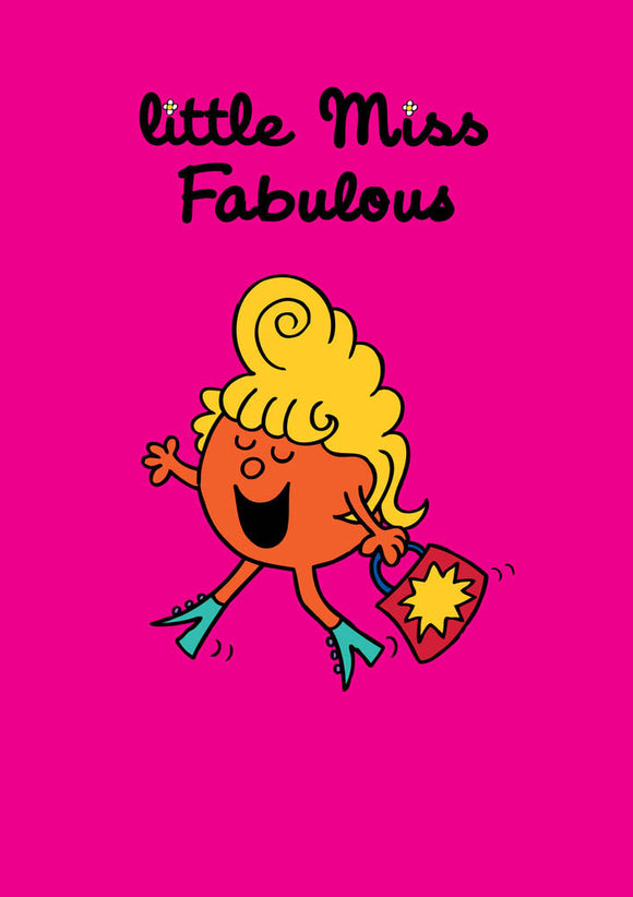 Little Miss Fabulous Mr Men / Little Miss Birthday Greeting Card