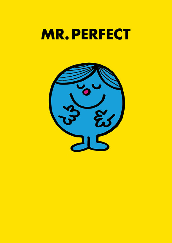 Mr Perfect Mr Men / Little Miss Birthday Greeting Card