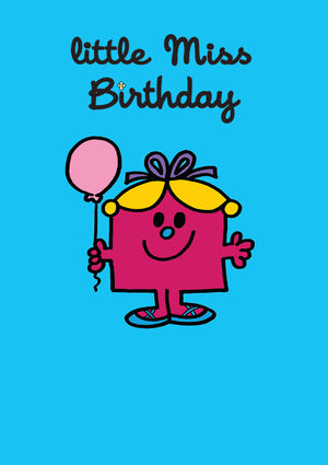 Little Miss Birthday Mr Men / Little Miss Birthday Greeting Card