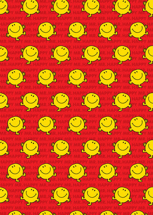 Mr Happy Mr Men / Little Miss Gift Wrap Wrapping Paper
