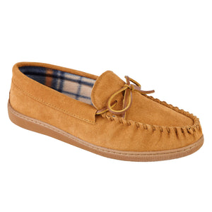 Mens Suede Fleece Cotton Lined Moccasin Slippers