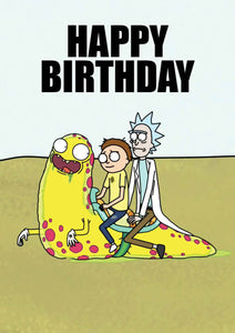 Happy Birthday Rick And Morty Birthday Card