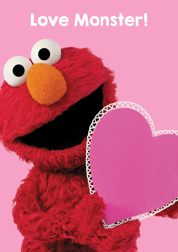 Love Monster Elmo Sesame Street Birthday / Valentines / Anniversary Greeting Card