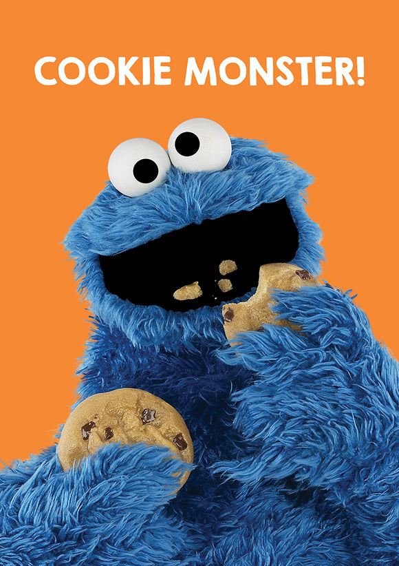 Cookie Monster Sesame Street Birthday Greeting Card