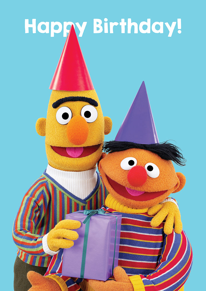 Happy Birthday Ernie & Bert Sesame Street Birthday Card