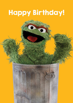 Happy Birthday Oscar The Grouch Sesame Street Birthday Card