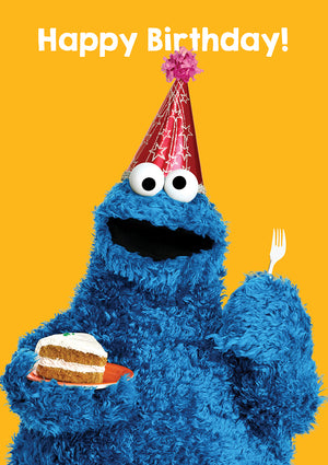 Happy Birthday Cookie Monster Sesame Street Birthday Card