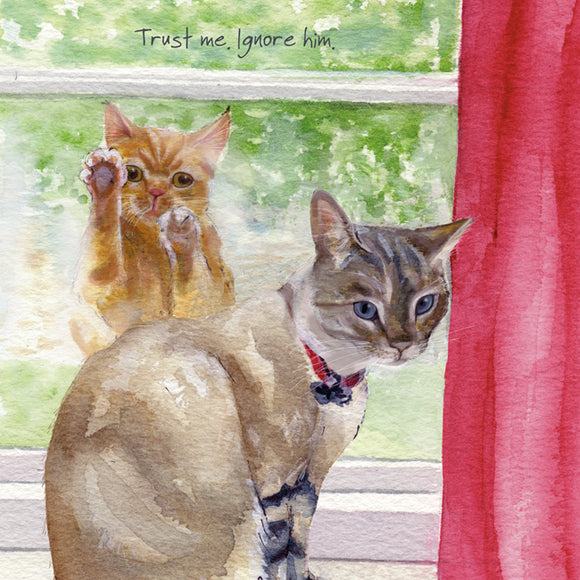Cats (Trust me. Ignore him.) Greeting / Birthday Card