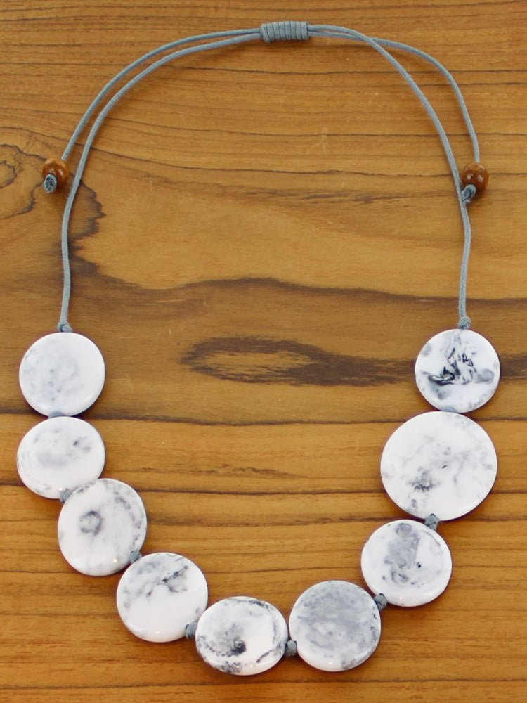 Resin Disc Necklace