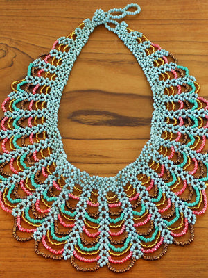 Beaded Lace Collar Necklace