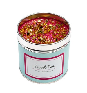 Sweet Pea Scented Candle Tin