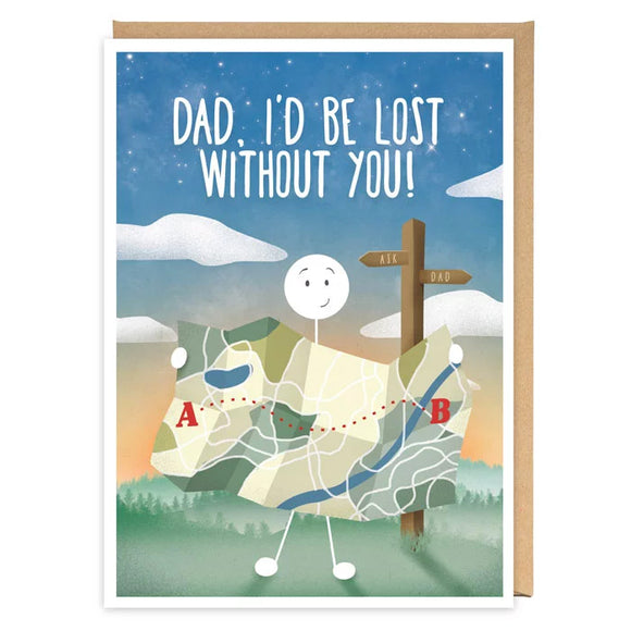 Dad, I'd Be Lots Without You! Birthday / Father's Day Card