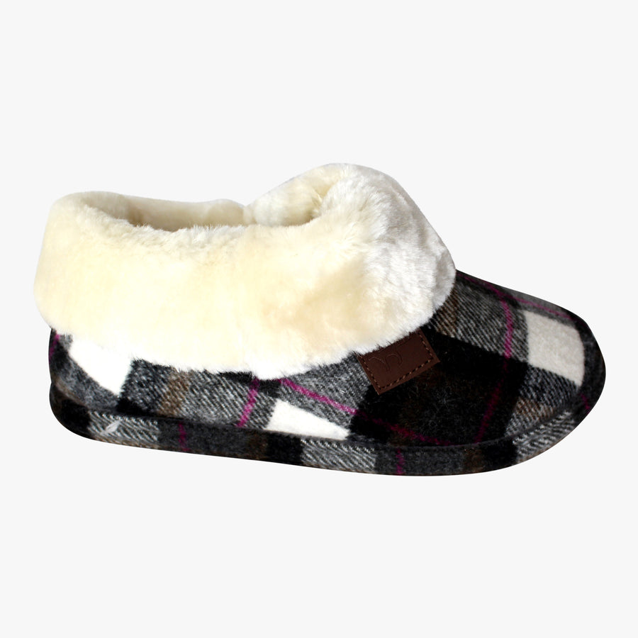 Fur Lined Boot Style Slippers