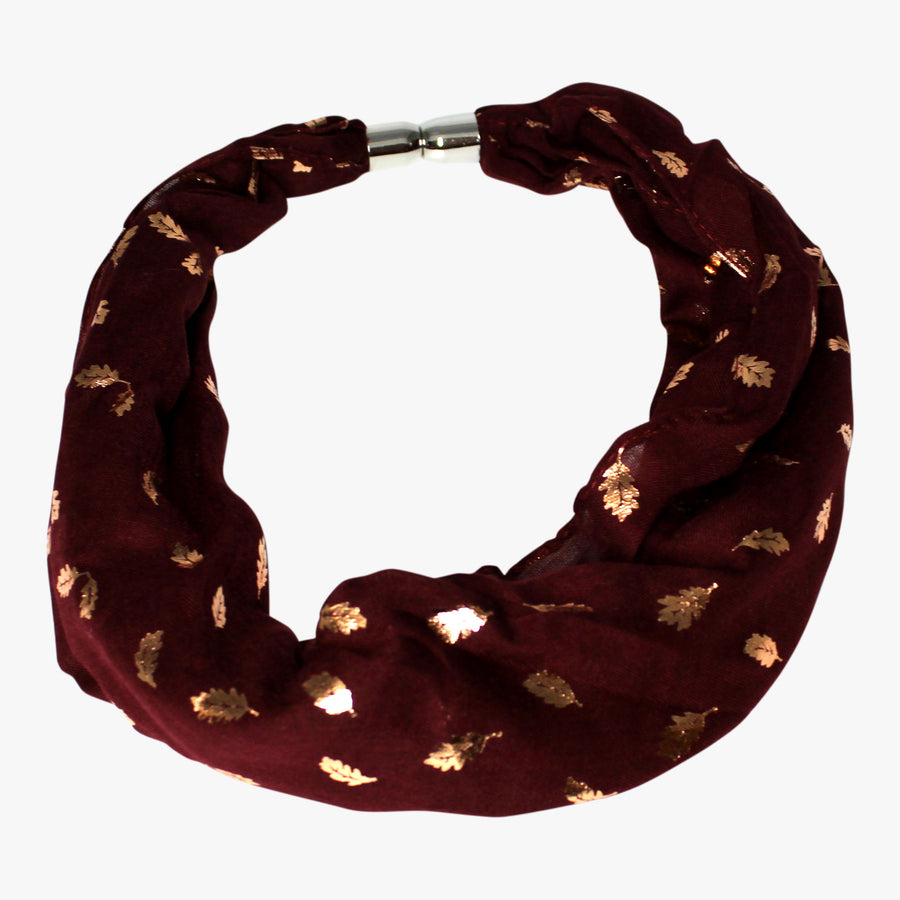 Gold Leaf Pattern Magnetic Scarf