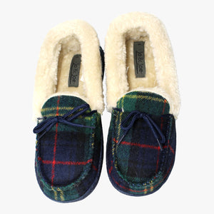 Mocassin Style Fur Lined Slippers