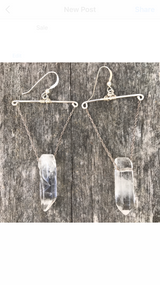 ARROW + STONE EARRINGS - wild_tide_collective, [product_type),