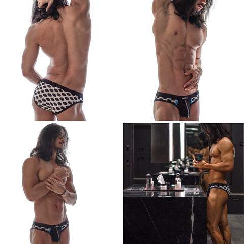 wearMEunder limited edition underwear for men the MARTIN polka dot brief