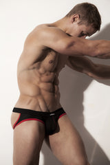 The ADRIAN Black JockBrief by wearMEunder Limited Edition underwear for Men, a hybrid between a jockstrap and a brief