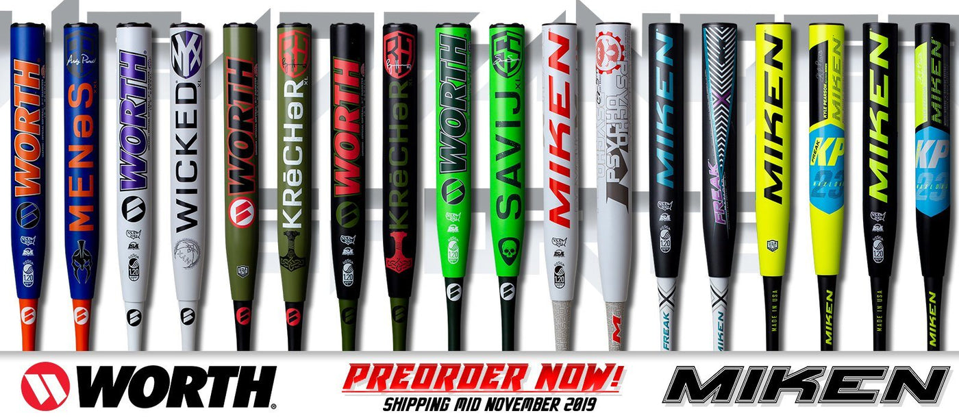 2020 Miken and Worth Slow Pitch Softball Bats