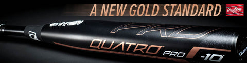 Rawlings Quatro Pro Youth and Adult Fastpitch Bat at headbangersports.com
