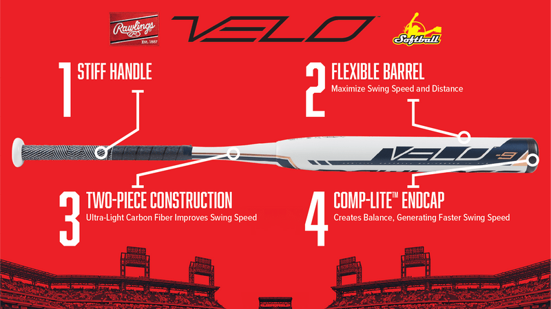 Rawlings Velo Specifications and Break Down.  Reviews of Fastpitch Bats at Headbangersports.com
