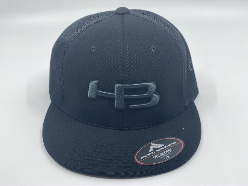 HB Sports Exclusive Pacific ES341 Premium Performance Trucker Flexfit Hat: Blackout