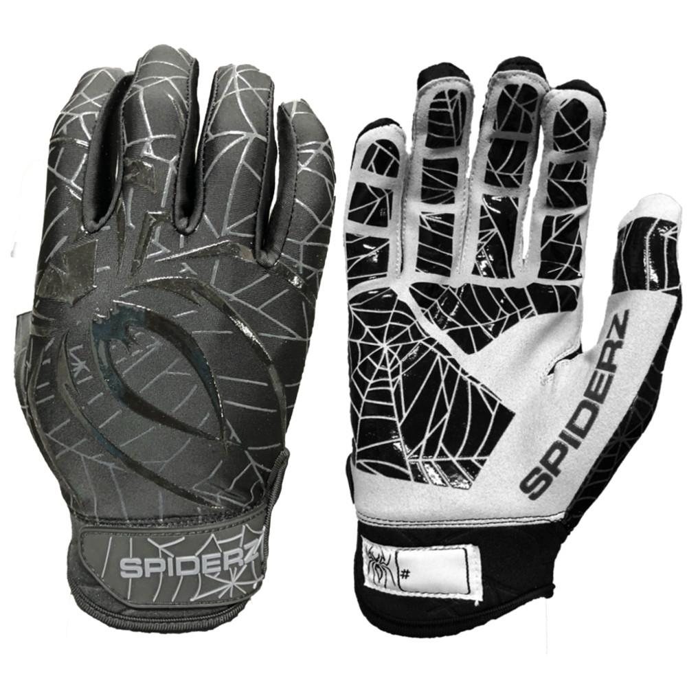 2019 Spiderz LITE Batting Gloves: Black/Charcoal