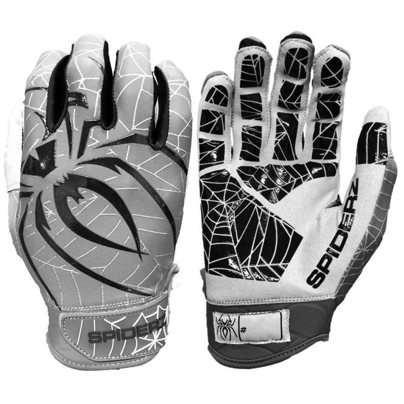 2019 Spiderz LITE Batting Gloves: Graphite/Black