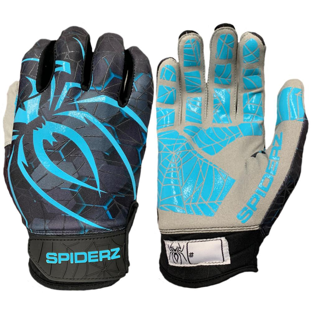 2019 Spiderz LITE Batting Gloves: Black/Teal Tec