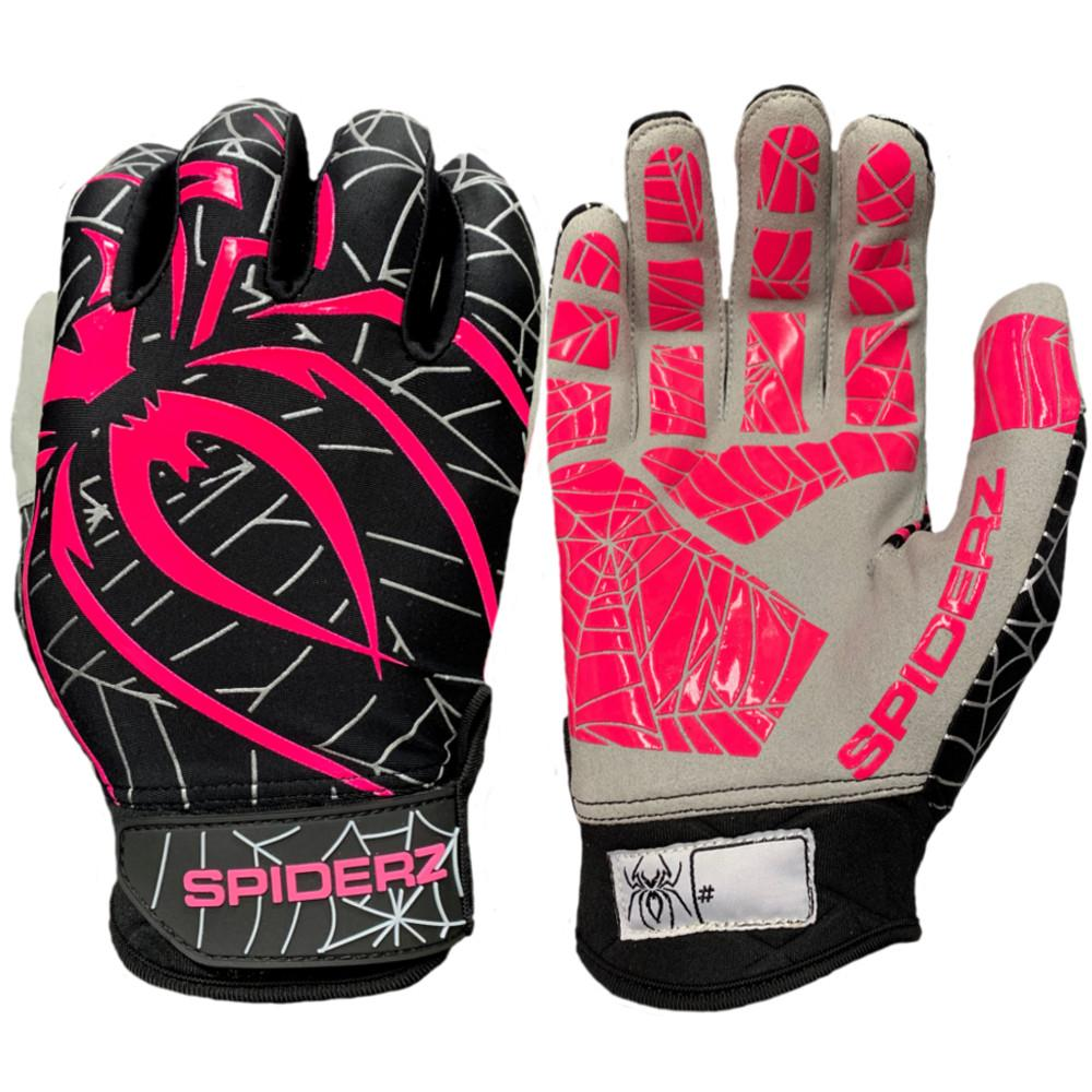 2019 Spiderz LITE Batting Gloves: Black/Pink