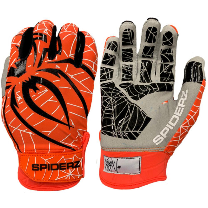 2019 Spiderz LITE Batting Gloves: Orange/Black