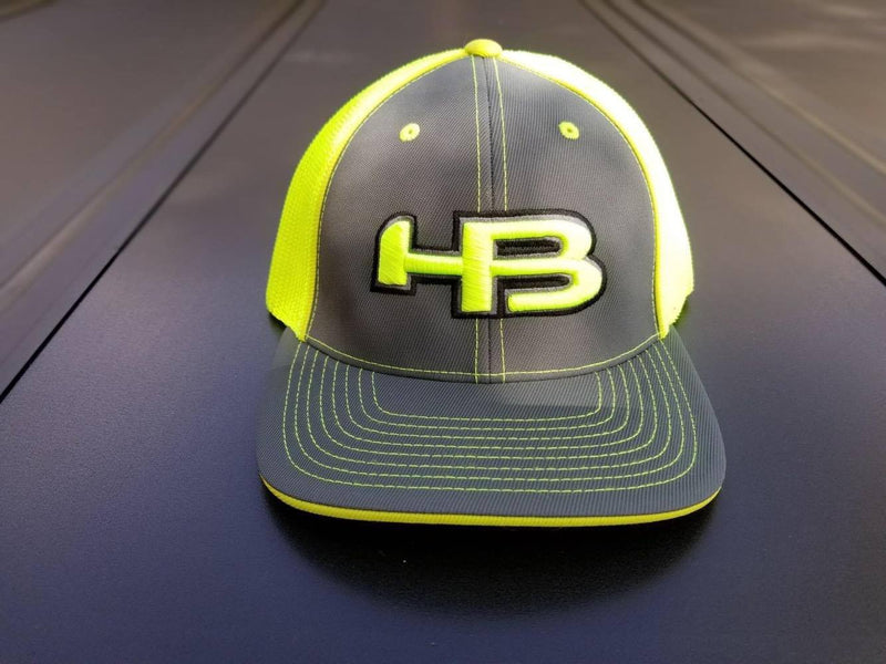 Charcoal and Optic Baseball and Softball Fitted Hat at headbangersports.com