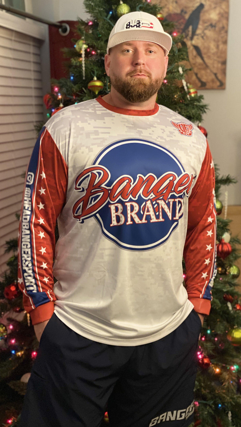 HB SPORTS EXCLUSIVE: BANGER BRAND USA LONG SLEEVE JERSEY