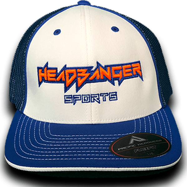 HB Exclusive Headbanger 404M Fitted Hat: Royal Gator at headbangersports.com