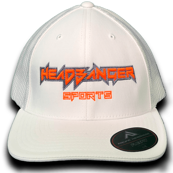 HB Exclusive Headbanger 404M Fitted Hat: Clean Orange