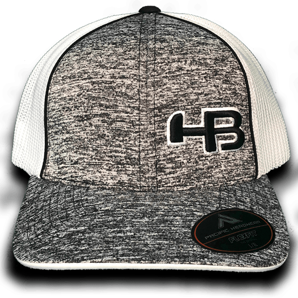 HB Exclusive Pacific 406F Fitted Hat: SK8R Black
