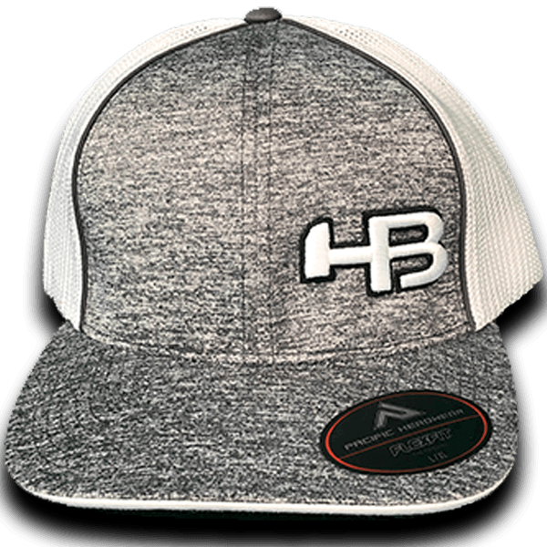 HB Exclusive Pacific 406F Fitted Hat: SK8R White
