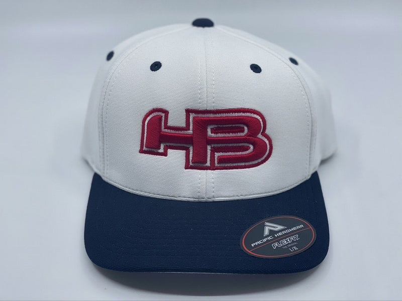 HB Sports Exclusive Pacific 498F Performance Flexfit Hat: Red Raider