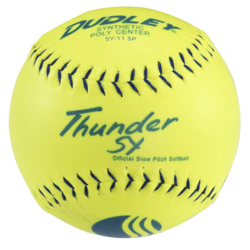 "Dudley Thunder ZN 11"" Classic W Synthetic USSSA Slowpitch Softballs (DOZEN): 4U542Y"