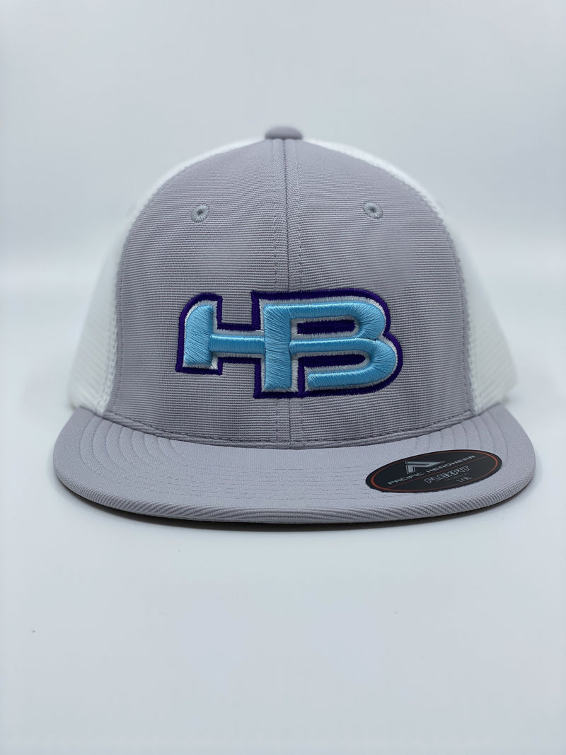 HB SPORTS EXCLUSIVE PACIFIC ES341 PREMIUM PERFORMANCE TRUCKER FLEXFIT HAT: BUBBLES