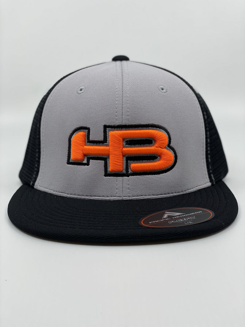 HB SPORTS EXCLUSIVE PACIFIC ES341 PREMIUM PERFORMANCE TRUCKER FLEXFIT HAT: PRIMO!