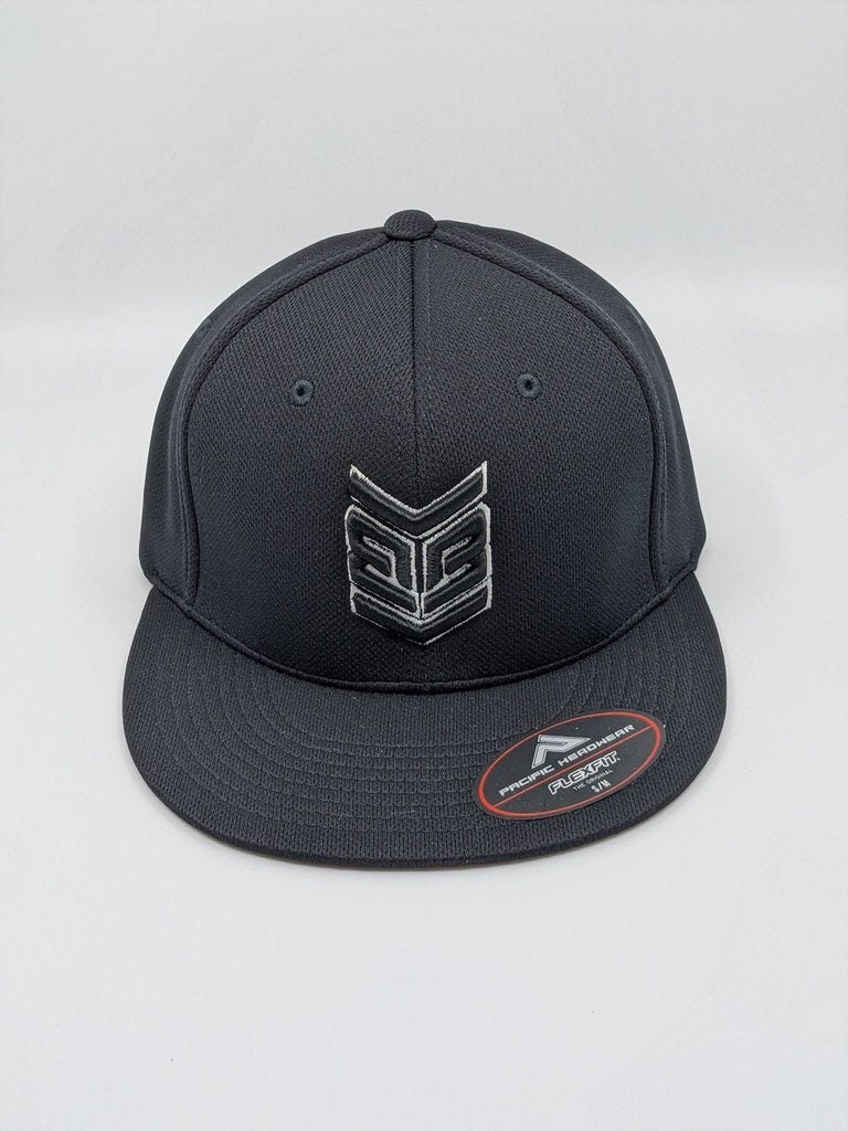 Banger Brand Exclusive Pacific ES342 Premium P-Tec Performance Flexfit Hat: Black / White