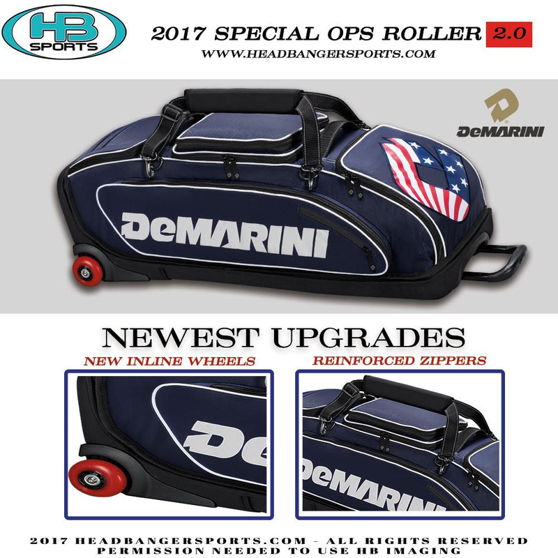 DeMarini Special Ops Baseball and Softball Wheeled Roller Bag