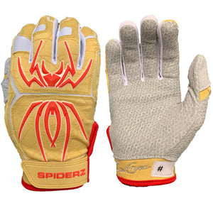 2020 Spiderz Endite Batting Gloves: COLLINS Signature Model Gold/White